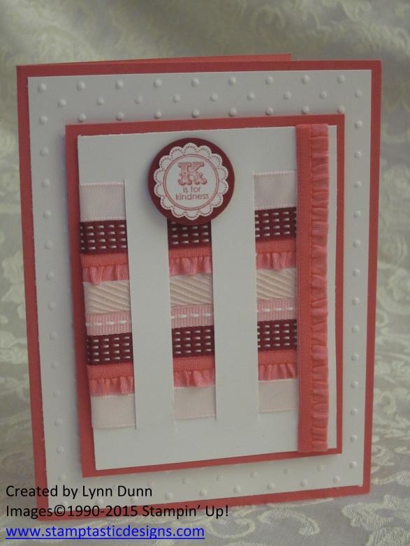 ribbon scraps weave card