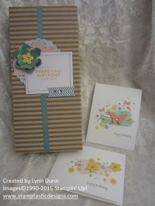 perpetual birthday calendar box and cards