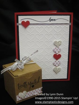Valentine gift set hearts